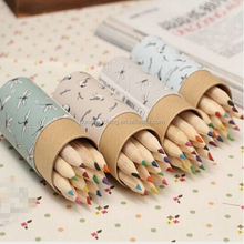 Factory price 2015 new style cute cartoon high quality paper pencil box with custom logo wholesale