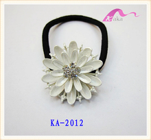 The Most Fashion Decorative Crystal Flower Rubber Elastic Hair Band