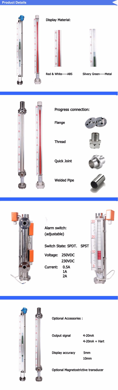 Oil tank level sensor or water measuring equipment