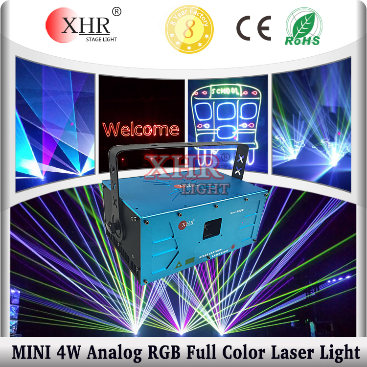 XHR stage laser show,4000mw ilda rgb animation programmable laser lights