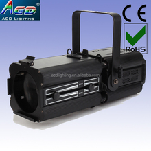 Hot sale 200w 2in1 warm white+cold white 15-50degree zoom led ellipsoidal profile spot light