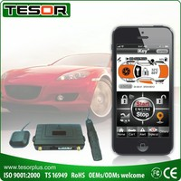 Smart phone car alarm GSM GPS tracker and remote car starter