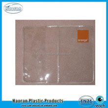 Cheap supply clear PVC plastic card sleeves made in China
