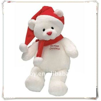 Christmas teddy bear plush teddy bear