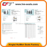 China supplier water pump mechanical seal 104-108 series