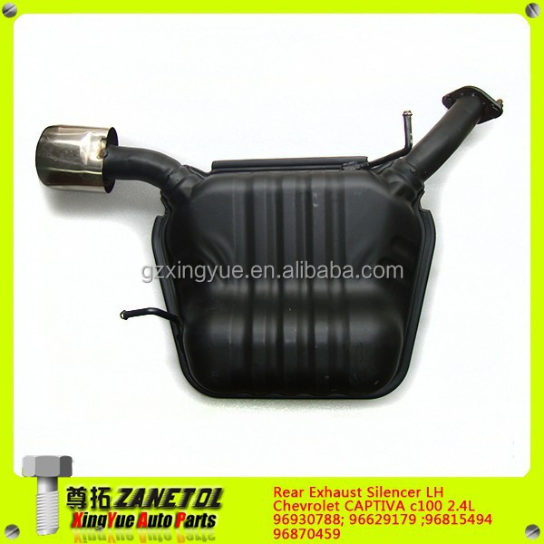 96930788 96629179 96815494 96870459 Auto Car Rear Silencer Left LH Exhaust Muffler for Chevrolet Captiva C100 2.4L Opel Antara