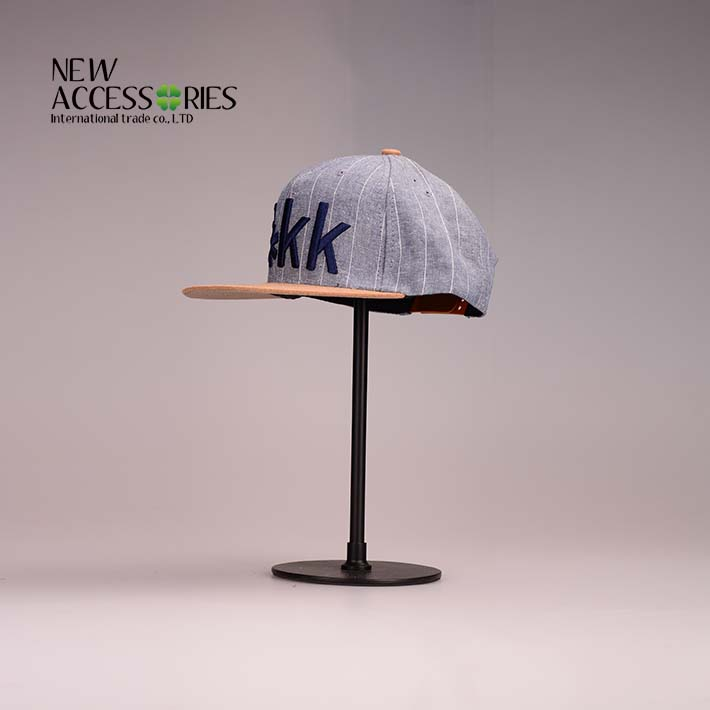 fashion cotton striped oxford baseball cap
