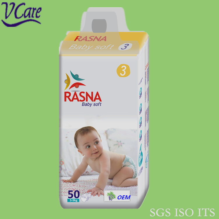 Hot Sell RASNA Brand Soft and Comfortable Baby Diapers Exporter In China