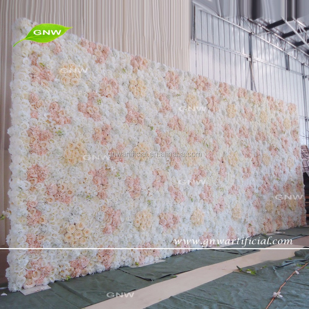 GNW FLW1608025 Hot China Products Cheap pink wedding artificial flower wall