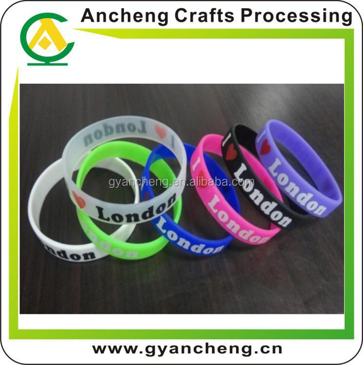 custom design kids friendship free silicone bracelets for fashion accessory