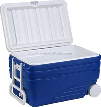 103.6 - quart insulated outdoor wheeled cooler , personal ice box cooler