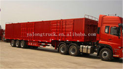 China famous brand Yaong box semi trailer and truck for sale with Fuwa axle or BPW and low price