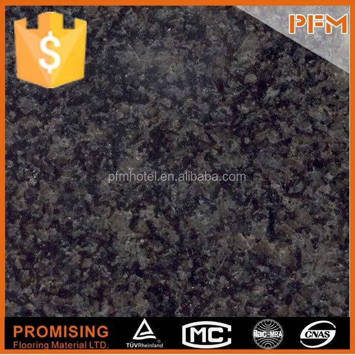 Cheap absolute black leather finish granite slabs