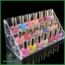 Customized Clear Acrylic Counter acrylic nail polish stand holder