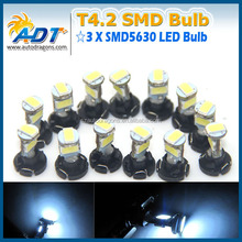 T4.2 LED BULB 3 SMD Lights bulb For Dash Board Cluster Gauges DC 12V Amber Blue Cool White