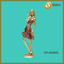 single girl figure table standing resinic craft
