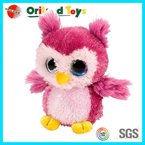"10"" Popular stuffed bird big eye animal plush soft toy"