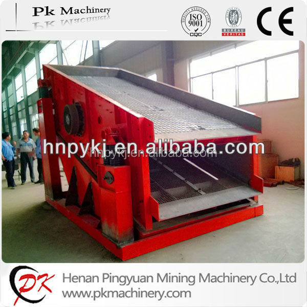 Single deck sand vibrating screen equipment for mine industry