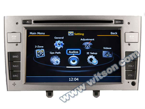 WITSON A8 Chipset PEUGEOT 308 car dvd player gps HD 1080P 1G CPU 512M RAM 3G/ wifi/DVR (Option) with Radio RDS function