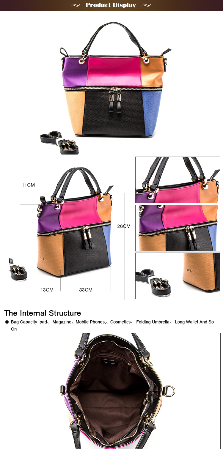 Hot Selling Factory Wholesale Genuine Leather Women Handbag Tote Bag