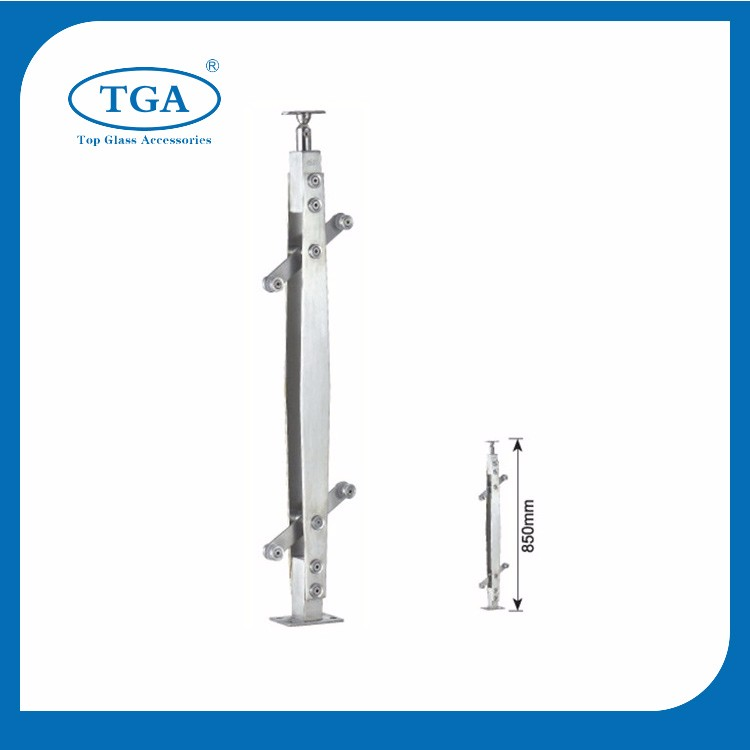 Stainless steel outdoor metal elevator frp handrail for steps