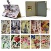 New design vintage colorful painting leather case for apple ipad mini 4, for ipad mini 4 case with credit card slot