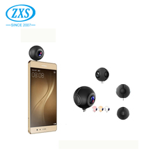 ZXS Dual Lens 360 degree USB Camera for Mobile Phones 2048x1024@30fps Pano Live 360 VR Camera