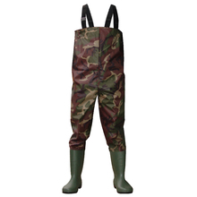 Hotsales camo waterproof 70D waterproof Nylon fishing chest wader fishing boots