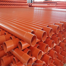 China supplier conduit tube wire protection electrical PVC pipe sizes