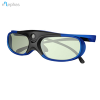 DLP LINK 3D Glasses, ELEPHAS 144Hz Rechargeable Active Shutter Eyewear for All DLP-Link 3D Projectors