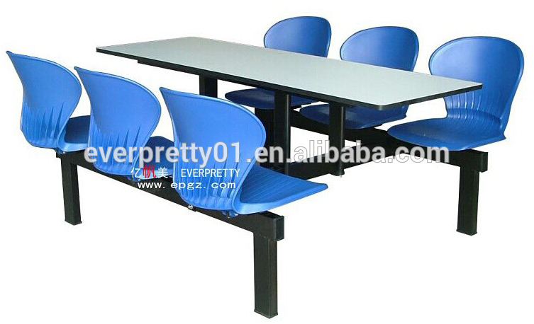 Heavy-duty dining table and chairs stool canteen set