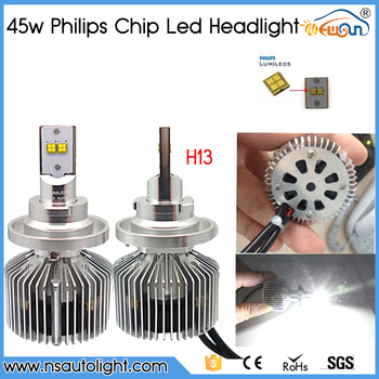 high power led car auto headlight car led headlight h13 12V 45W 4500lm