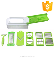 High quality stainless steel vegetable grater veggie potato spiral cutter