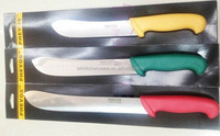 "8"" 10"" 12"" Colorful Plastic Handle professional butcher skinning knives"