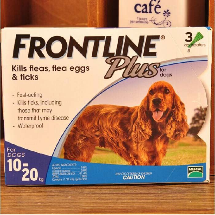 Frontline Plus For Dogs 23-44 lbs (for 10-20 Kg) 3 MONTHS (Doses) Flea Control