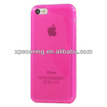 Colorful clear tpu front case back cover for iphone 5C