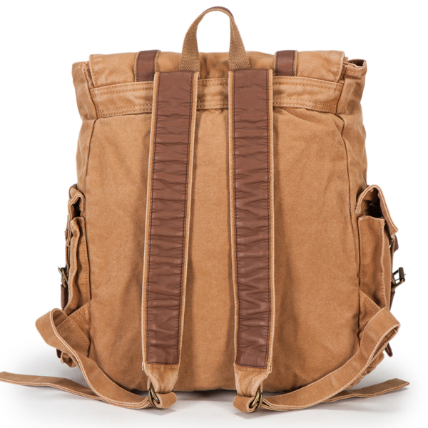 Vintage casual unisex canvas traveling backpack