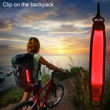 2016 new industrial product ideas glowing led marker band for backpack