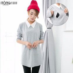 Wholesale 2017 new arrive grey color office dress for pregnant women