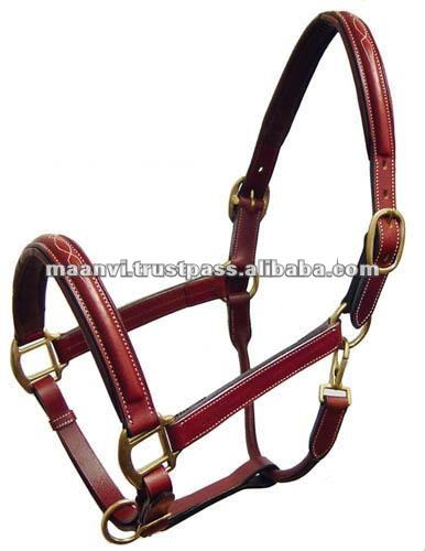 FANCY LEATHER HORSE HALTER