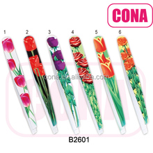 Cute cartoon series stainless steel eyebrow tweezers