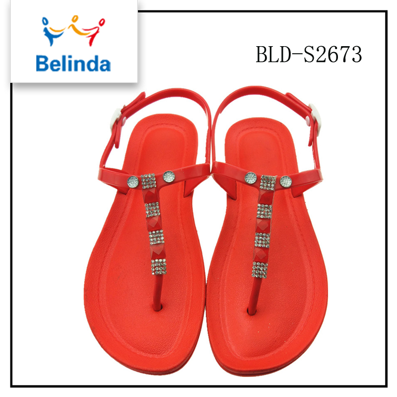 Hot selling summer sandal beautiful all ladies footwear design with low price
