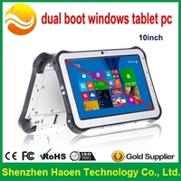 NEW 10inch Android4.4 Windows Dual Boot tablet pc fingerprint barcode scanner IP65 Rugged tablet pc with hdmi input