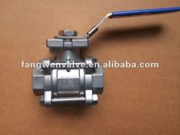3PC ISO 5211 mounting Threaded ball valve