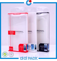 Colorful Offset Printing Handling Transparent Plastic Smart Phone Case Box Packing Wholesale