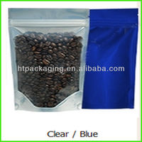 With zipper coffee plastic packaging bag