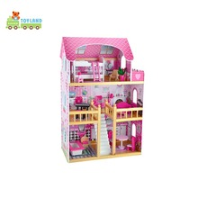 Fashion Wooden Diy Miniature Dollhouse Funny Educational Doll House