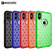 Mocolo Wholesale Cheap Mobile Accessories Anti-Shock Back Cover Tpu Pc 2 In 1 Phone Case For Iphone X
