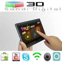 count with touchscreen 7 inch tablet PC Q88 CPU Allwinner A13 ram 512 mb flash 4GB ultrathin Android 4.0 mini laptop