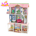 2018 New hottest DIY large wooden kids doll house with furniture W06A267